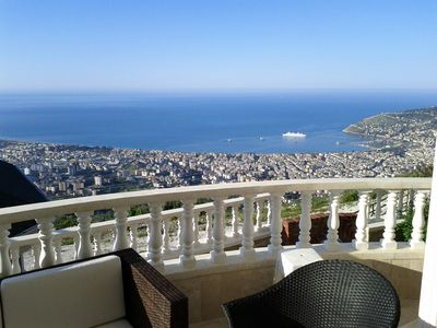 Photo for Beautiful view villa with private pool located on the top of the mountain behind Alanya