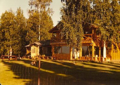 Summer, a favorite time of year.  The house faces the Chena River.