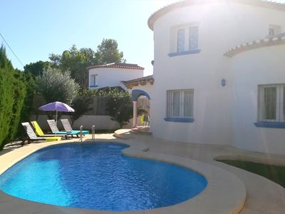 "Photo for This villa is part of the ""Villas MOLINS"", group of 12 villas with their own private pool and garden. Located in Denia, Las Marinas, just 400m."