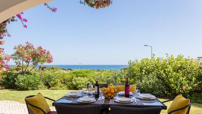 Photo for UP TO 50% OFF! Single storey villa, sea view, pool, AC, free WiFi, 450m to beach