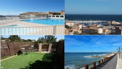 Photo for Beautiful Beachfront Studio, Terrace, Pool, Private Garden