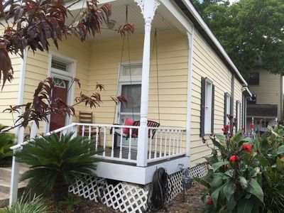 Photo for Historic Downtown Cottage | Gated Parking | Walk To Astros | Tons of Extras!!