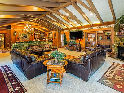Photo for 7 bedroom w/Indoor Pool Golf Course Estate- Discounts all April/May