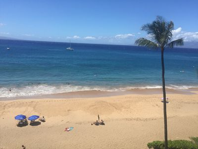 Direct Beachfront View From the Lanai