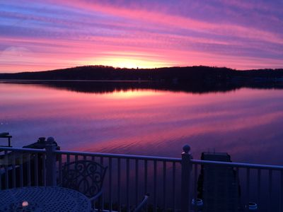 Sunrise over Davis Cove highlights one of the best locations on Lake Hopatcong
