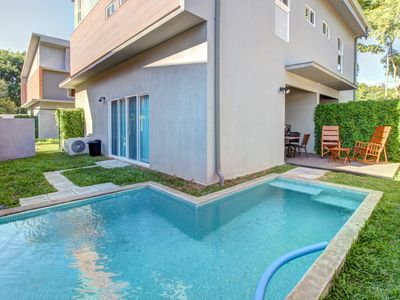Photo for Modern townhouse w/ private pool & easy beach access - dogs ok!