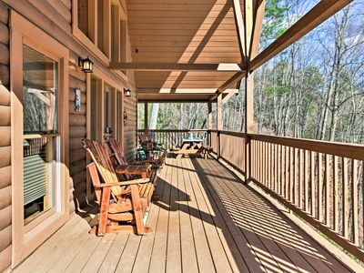 Photo for Rustic Pigeon Forge Mtn Cabin w/ Hot Tub & Views!