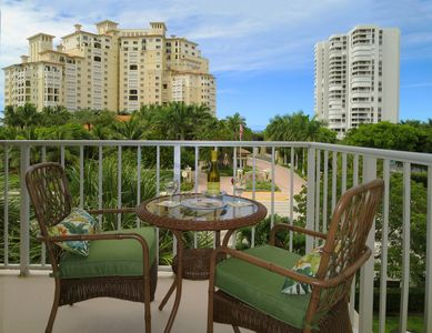 Imagine breakfast, lunch or a sunset margarita from this beautiful balcony.