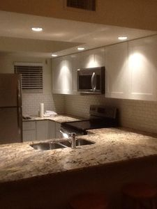 Completely renovated kitchen makes you feel like you're in the comforts of home.