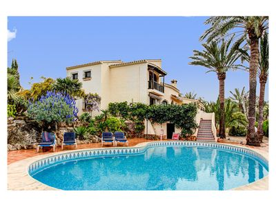 Photo for Andreas - Stylish and spacious 5-bedroom villa in huge enclosed grounds, private pool, tennis court and superb summer kitchen; air con & WiFi