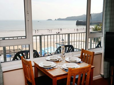 Photo for Mermaid Apartment - Sea Front Apartment, Spectacular Sea Views, Balcony and Wifi