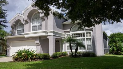 Photo for 3 BR Private Pool Home 5miles from Disney - Free Pool and Spa Heat + Gas Grill