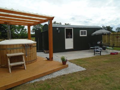 Photo for shepherds hut ferrensby north yorkshire with hot tub & sauna barrel