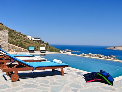 Photo for Breathtaking place on Mykonos, large villa, wonderful private pool