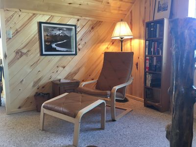 Photo for Spacious loft with cozy cabin feel, overlooking the Wind River