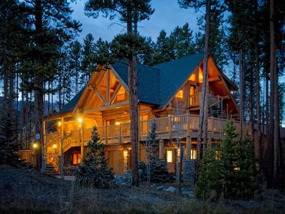 Photo for Walk to Slopes, Close to Main St., See Discounts, Luxury Log Home