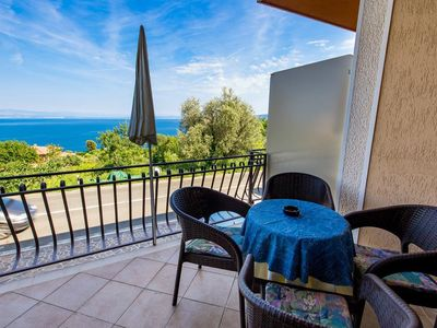 Photo for One bedroom apartment with terrace and sea view Kraj (Opatija)