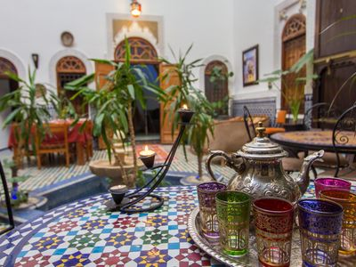 Photo for Dar Tahrya features a Moorish-style central courtyard