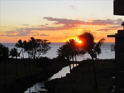 sunset from lanai