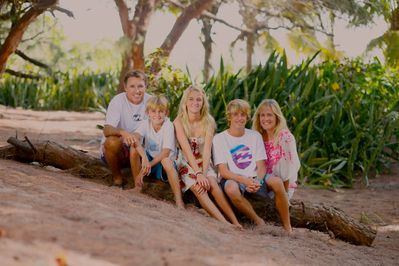 Owners/Operators:The Burke Family Portrait Taken in their backyard at Long Beach