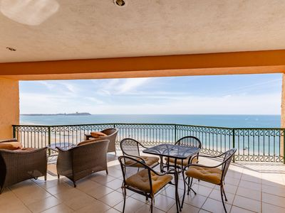Photo for Sonoran Sea West 801 - 3 Bedroom Deluxe Upper Floor Ocean Front