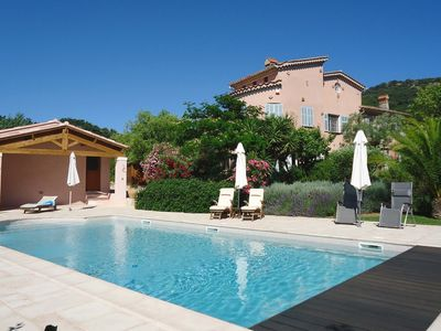 Photo for 4 * old winery villa with heated pool & sea views