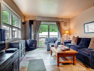 Photo for Top-Floor Corner Condo in Town, Walk to Ski: Riverside at The Viking