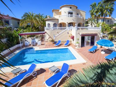 Photo for Calpe Holiday Home, Sleeps 12 with Pool, Air Con and Free WiFi