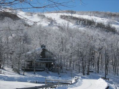 Photo for Skiing Now!!! Walk to Slopes 3 BR/3 Baths, WiFi, Fireplace, Wide-Screen TV