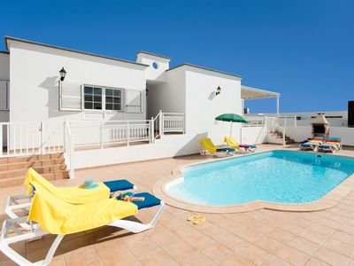Photo for Villa Gaida: Large Heated Private Pool, Walk to Beach, A/C, WiFi, Car Not Required