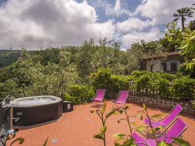 Photo for Wonderful VILLA FEDELA in the hills of Sorrento with terrace and seaview