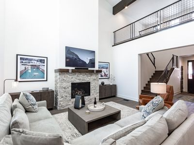 Photo for Stylish condo in new development with unobstructed mountain views and hot tub access
