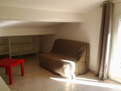 Photo for Furnished 2 room apartment in detached house 3 km from the sea