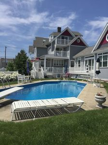 back yard exclusive use of heated pool 74 degrees