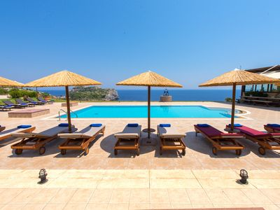 Photo for Luxurious sea view Villa Pasithea in Rhodes Greece