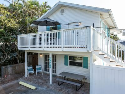 Photo for 2 Bedroom 1 Bath Triplex, Heated Pool One Block From Beach,  Newly Remodeled!