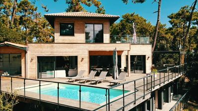 Photo for The Villa O! Architect house with swimming pool - View on the pond - Cap Ferret