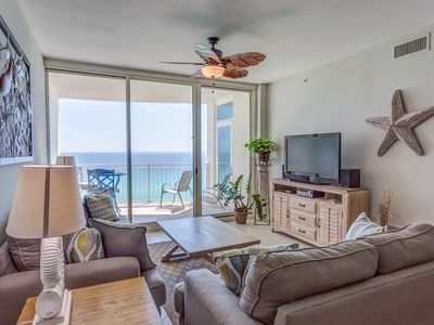 Photo for GORGEOUS AQUA 2 BR 2 BATH W/BUNK. MASTER ON THE GULF! FREE BEACH CHAIRS!