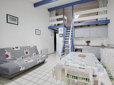 Photo for Biscarrosse beach, semi-detached houseT2 mezzanine 400m from the ocean