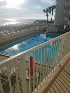 Photo for Beach getaway! 2 bed 2 bath condo ! PET FRIENDLY. 2nd floor unit! On Beach!!!