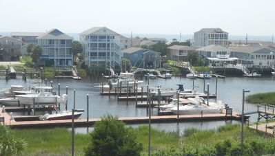 Photo for Beautiful luxury 3 bedroom 2 bath condo at Carolina Bay with POOL overlooking the Carolina Beach canal.