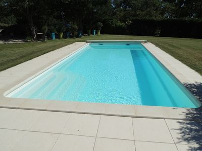 Photo for Independent house with air conditioning on a large plot with private pool