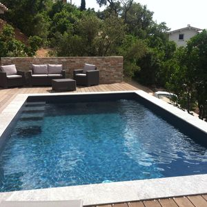 Photo for 2 bedroom house with private pool 5 minutes from the beaches