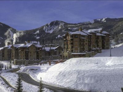 Photo for NEW LISTING! Central, ski-in/ski-out condo w/ shared hot tub/pool/sauna/shuttle