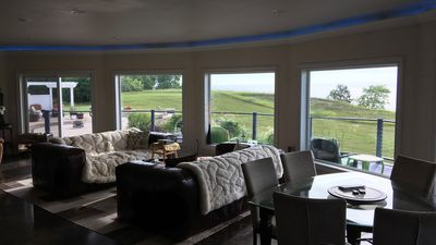 Wide open great room allows for great family time & enjoying unobstructed views!