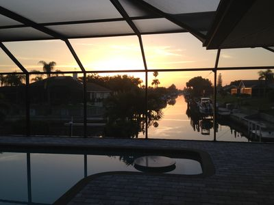 Sunrise at the pool deck
