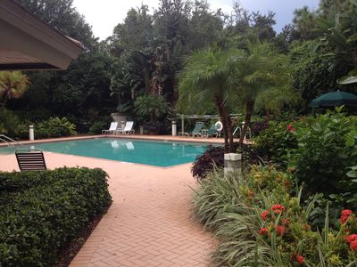 Photo for Beautiful large corner unit. Closest building to the pool, with private beach!