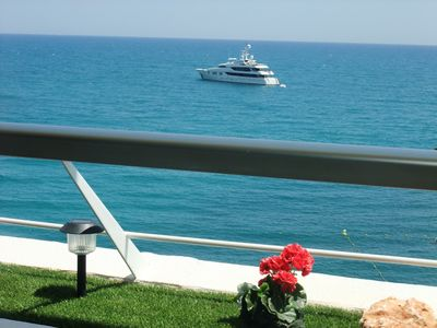 Photo for French Riviera – Directly on the beach, near the sea. 3 Rooms. High standard
