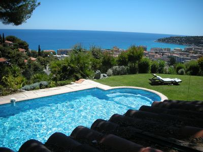Photo for Villa with swimming pool Cote d'Azur, 7km from Montecarlo 200m from the sea _ 06083000463A0