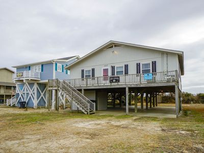 Photo for Oceanfront 4 bedroom, 2 bath Beach Cottage with Large Dune Front Deck.